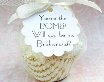 Bridesmaid Proposal - Will You Be My Bridesmaid - Will You Be My Maid of Honor - Bridesmaid Gifts - Bridesmaid Bath Bomb - Bridesmaid Box