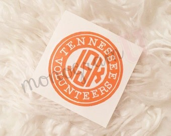 College Monogram Decal - Circle