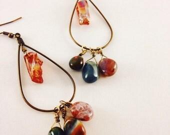 Tumbled Stone Chandelier Earrings