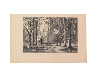 Camille Bernier - A Farm in Bannalec 1876 Etching Gazette des Beaux Arts