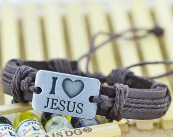 I love Jesus  (Brown on Brown)