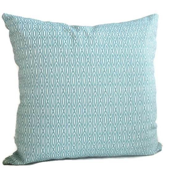 Duralee Pillow Ocean Blue Pillow Geometric Pillow Turquoise