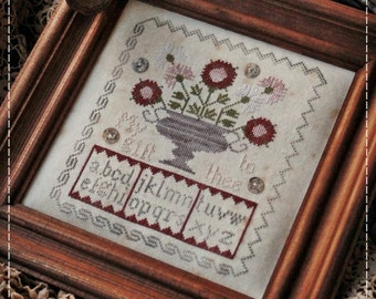 My gift to thee / Primitive cross stitch pattern