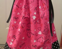 Valentine's Day Pillowcase Dress - Size 12 to 18 months - Ready to Ship