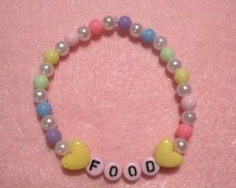 Food Pastel Rainbow Beaded Bracelet