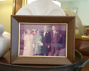 Vintage Wedding Picture in Vintage Frame/1960s Wedding Picture