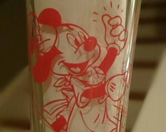 Vintage Mickey Mouse Glass Counter Service/Silk Screened Glass
