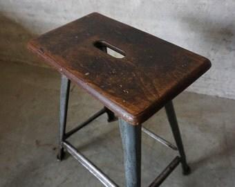 Vintage Industrial Stool by Rowac