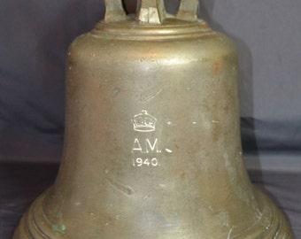 AIR MINISTRY 1940 World War 2 Scramble Bell. Bronze. World War 2 Memorabilia. Military. Rare.