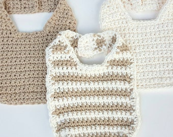 Organic Cotton Baby Bibs - pack of 3