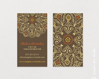 Prosperous Yoga Business Card or Wellness Yoga Business Card