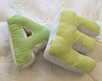 Alphabet letter pillow