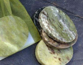 Connemara marble worry, thumb, tranquility,lucky stone. Irish,green,healing