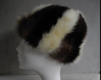 Striped Fur Hat