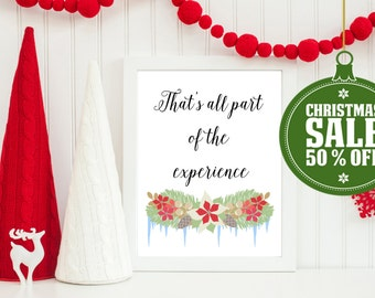 50% OFF - Christmas Vacation Quote- INSTANT DOWNLOAD - Printable 8x10 & 5x7