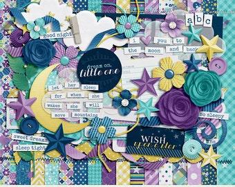 Sweet Dreams Digital Scrapbook Kit - INSTANT DOWNLOAD