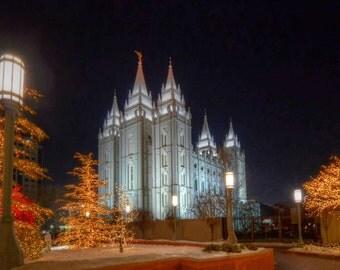 Salt Lake Temple Lights