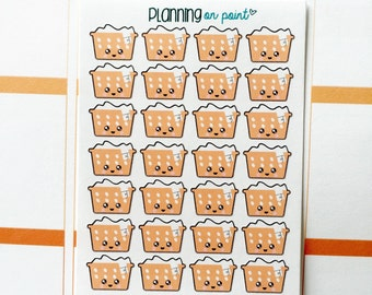 Kawaii Laundry Basket Folding Chores Planner Stickers!