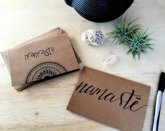 Namaste - Thank You Cards - Greeting Cards - Blank Card  -  Set of 6