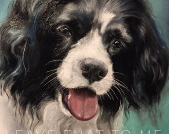 "5""x7"" or 8"" x 10"" Custom Oil Pet Portrait"
