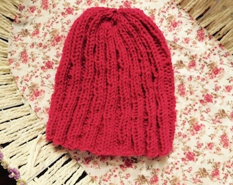 Salmon pink hat