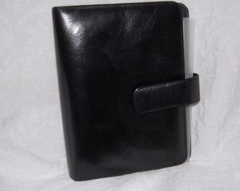 Classic Gary's of California Leather Zipper Planner Binder Organizer