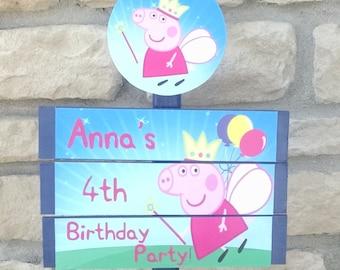 Peppa Fairy Yard Sign
