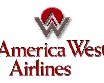 America West Airlines Logo Fridge Magnet (LM14012)