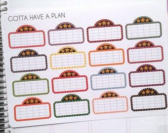 Planner Stickers Movie Marquee for Erin Condren, Happy Planner, Filofax, Scrapbooking