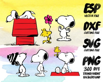 Snoopy  Clipart , SVG Cutting , ESP Vectors files , T shirt , iron on , sticker ,Personal Use