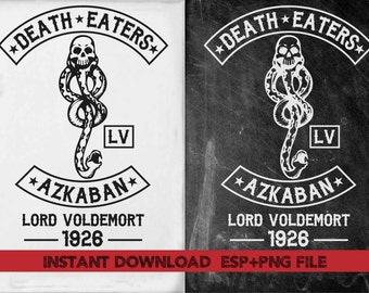 death eaters Azkaban Clip Art,T shirt, iron on , sticker, Vectors files ,Personal Use