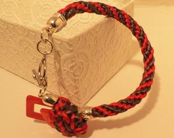 Bracelet Kumihimo Braided Silk