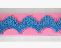 Flower shaped Lace Fondant mold mat Silicone Molds Chocolate Resin mold Sugarcraft Cake Decorating Tools