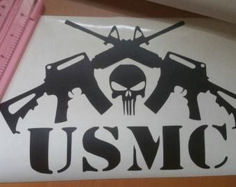 Large USMC Vinyl Decal