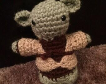 Yoda- Crocheted