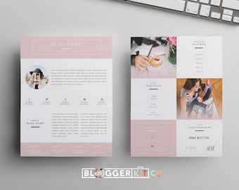 Influencer Media Kit Template | Blog Media Kit | Press Kit Template | EPK | Instant Digital Download | MS Word Template | 'Beauty Blogger'