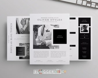 Media kit template 3 pages press kit template electronic for Digital press kit template free
