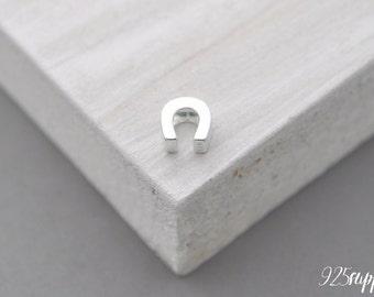 925 Sterling Silver horseshoe Charm, horseshoe Pendant, Silver horseshoe, Little horseshoe, Tiny horseshoe, Craft Tools,