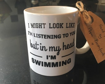 Swimming mug- swimmer- swimming-triathlete-triathlete mug -running-running mug -cycling-cyclist-cycling mug-friend-quote mug-funny mug