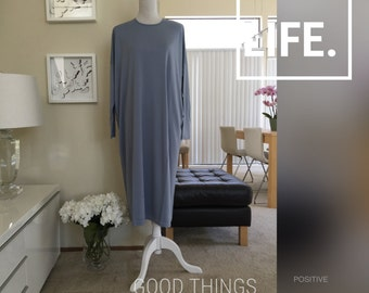 Flowing Knit Modal Jersey/Jersey Tunic Dress