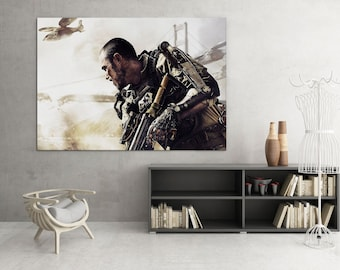 Call of duty Advanced Warfare, Modern painting, wall art, modern art, stretched Canvas Prints,
