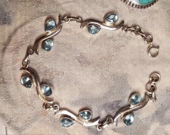 Swiss Blue Topaz Sterling silver bracelet