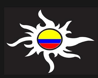 Colombian Tribal sun Car sticker