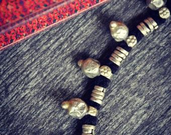 Ethnic Tribal Necklace Jewelry Spikies Bells ATSCoins Banjara Kuchi gipsy silver Hippie Indian Pakistan Boho Vintage