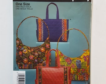 Simplicity 4729, Easy Pattern for Handbag, Tote, Quilted Bag, Canvas Bag, Purse, Beach Bag, Shopping Bag