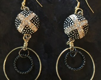 Gold is the New Silver Dangle Earrings
