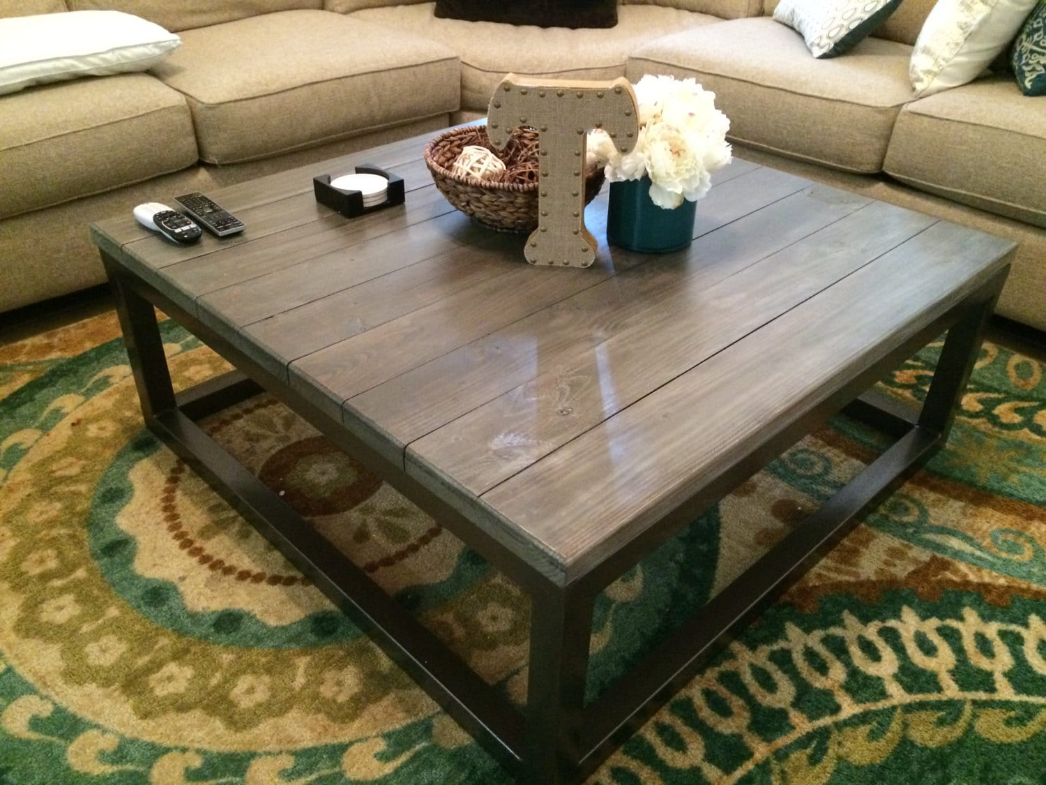 Rustic Coffee Table By Customrusticliving On Etsy