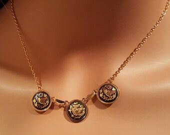 Vintage Toledo spain 24k Gold plated Necklace