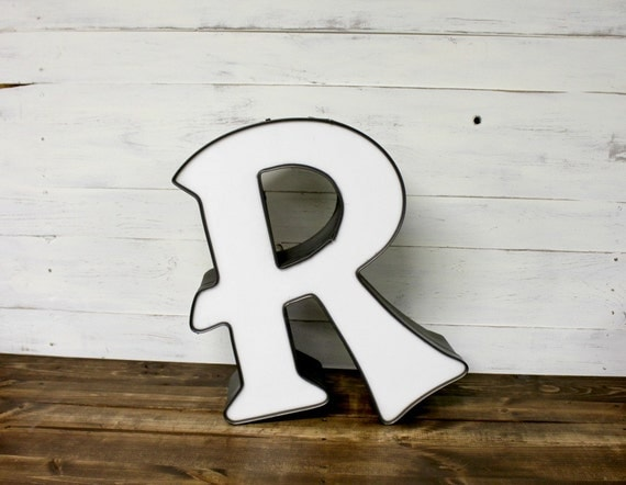 Large vintage r marquee letter letter r by therusticotter for Large vintage marquee letters