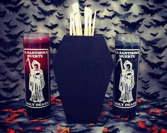 LARGE Gothic Coffin Brush Holder, Brush Holder, Makeup Holder, Art Suppy & Pencil Holder, Coffin Shaped